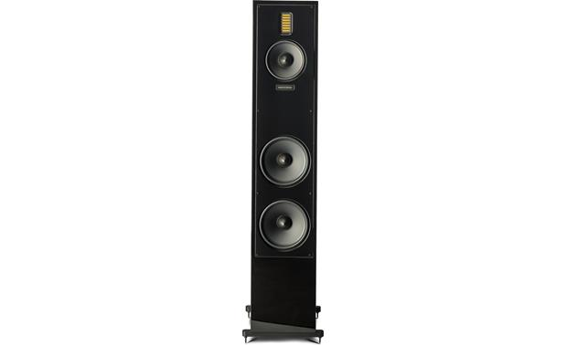 MartinLogan Motion® 60XT Direct front view with grille off (Gloss Black)