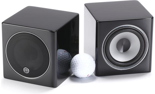 Monitor Audio Radius 45 Shown with golf ball for scale