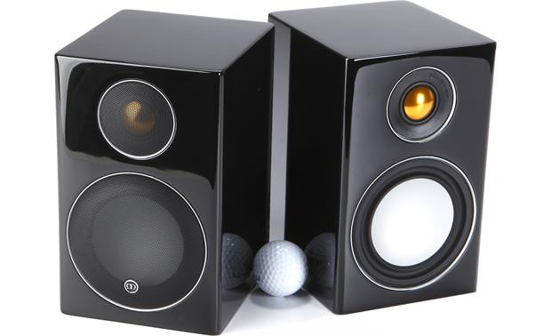 Monitor Audio Radius 90 Shown with golf ball for scale