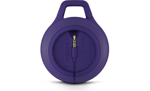 JBL Clip Connected aux cable is housed in the removable back panel
