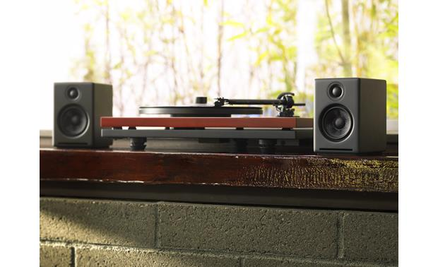 Audioengine A2+ Use the A2+ with a phono preamp-equipped turntable for great sound with your vinyl records