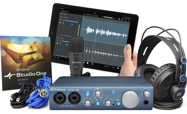 PreSonus AudioBox™ iTwo Studio Complete package (iPad not included)