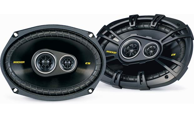 Kicker CS Series 150 Watt 6 x 9 Inch Car Audio Coaxial Speaker Pair Yellow