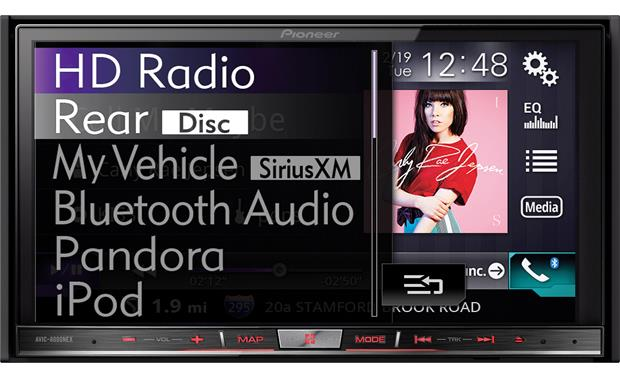 Pioneer AVIC-8000NEX Enjoy HD Radio broadcasts with album artwork and artist info where available