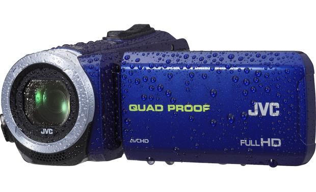 Jvc Gz R10 Blue Waterproof High Definition Camcorder With Advanced Image Stabilization At Crutchfield