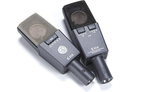 AKG C414 XLII (Matched Pair) Front and back views