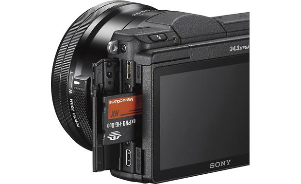 Sony Alpha a5100 Kit Media slot and connections