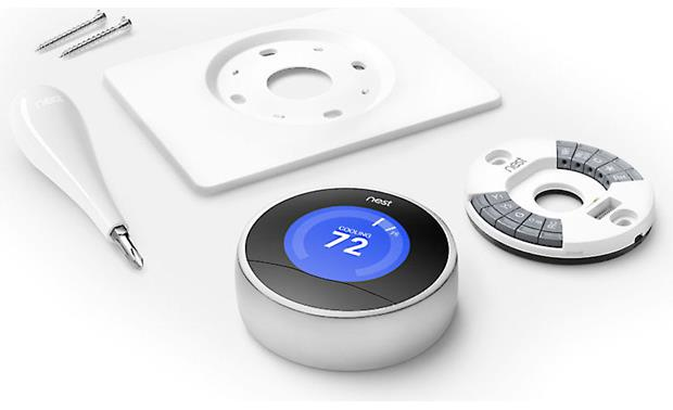 Nest Learning Thermostat, 2nd Generation Shown with included installation gear