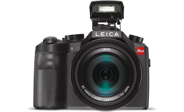 Leica V-Lux Shown with built-in flash deployed