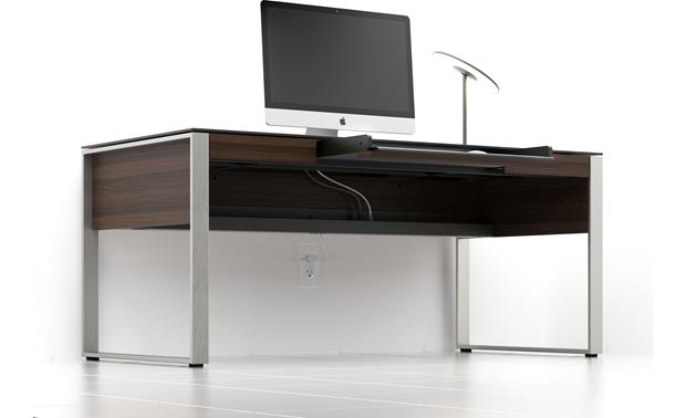 BDI Sequel 6021 Chocolate stained walnut - cable management (computer and accessories not included)