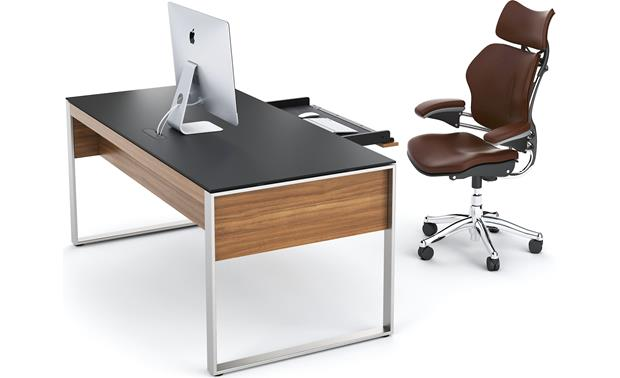 BDI Sequel 6021 Natural Walnut (computer, accessories, and chair not included)