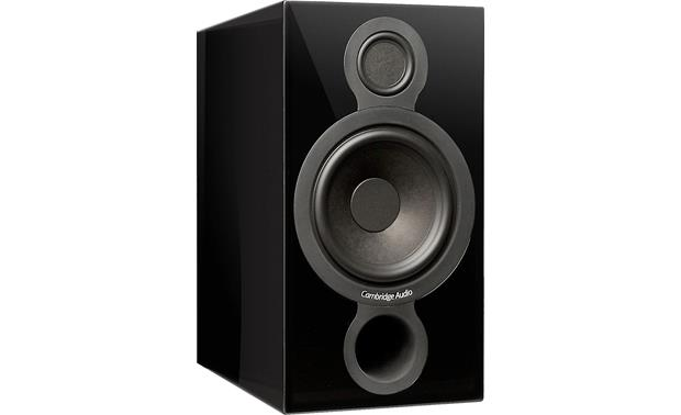 Cambridge Audio Aeromax 2 Angled front view with grille removed (Gloss Black)