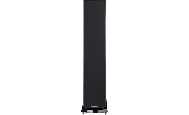 Cambridge Audio Aeromax 6 Direct front view with grille on (Gloss Black)
