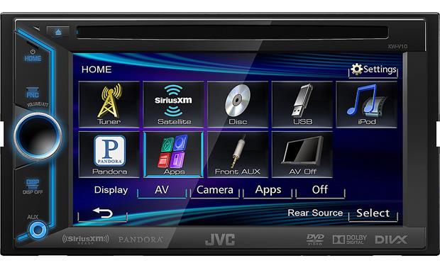 JVC KW-V10 The variable-color display accents your dash