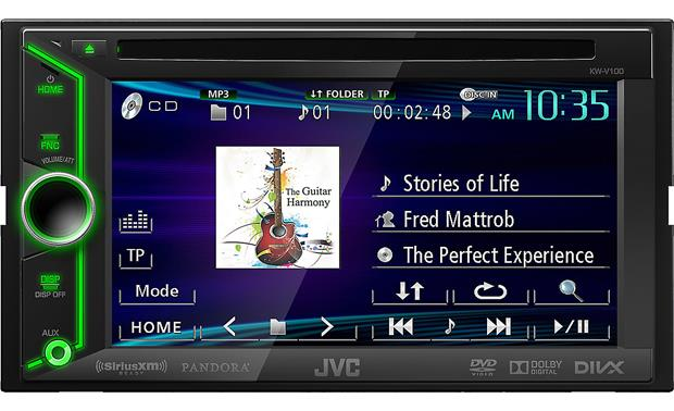 JVC Arsenal KW-V100 All your audio and video controls are at your fingertips