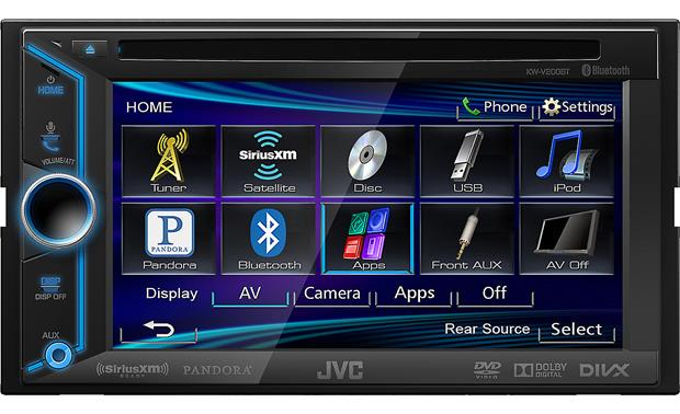 JVC Arsenal KW-V200BT The touchscreen display gives you access to all your sources