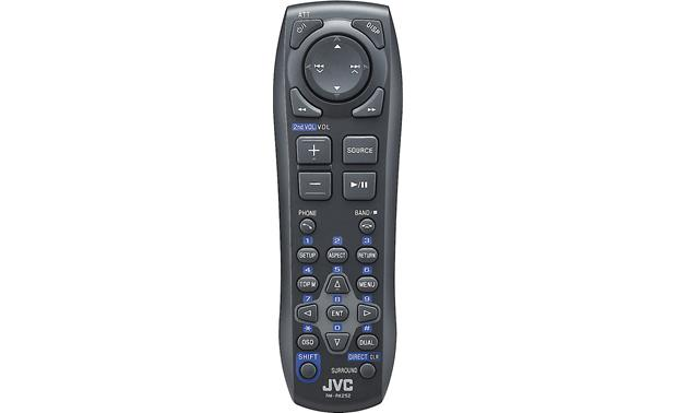 JVC KW-V30BT Backseat passengers can use the handy remote while you concentrate on traffic