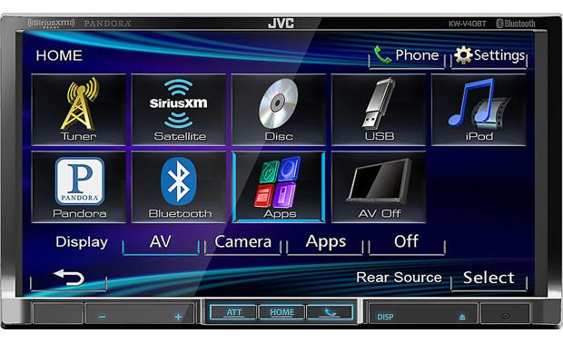 JVC KW-V40BT The KW-V40BT's 7