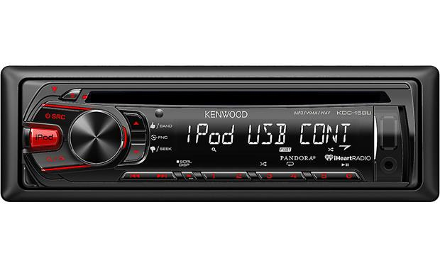 Kenwood KDC-158U Enjoy your CDs, USB music, or plug in a portable audio player