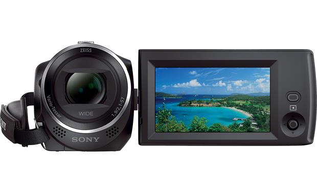 Sony Handycam® HDR-CX240 Viewscreen rotated to face outward
