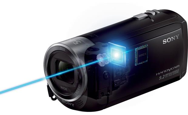 Sony Handycam® HDR-CX240 9.2 megapixel CMOS sensor records high-quality images