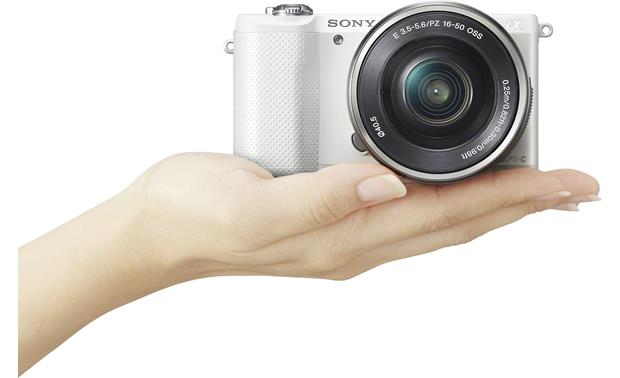 Sony Alpha a5000 Kit Fits easily in the palm of your hand