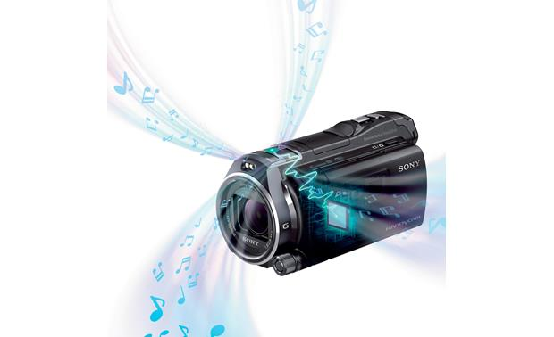Sony Handycam® HDR-PJ810 Built-in 5.1 surround sound mic adds a vivid soundtrack