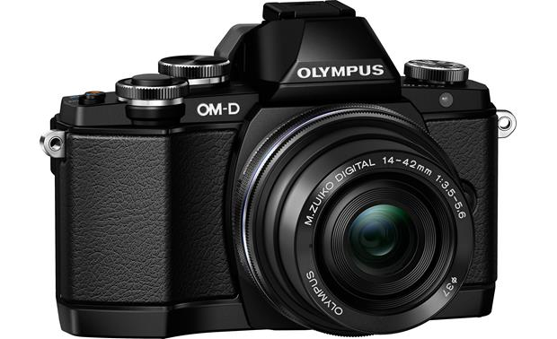 Olympus M. Zuiko ED 14-42mm f/3.5-5.6 EZ Mounted to Olympus DSLR (camera not included)