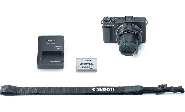 Canon PowerShot G1X Mark II Shown with included accessories