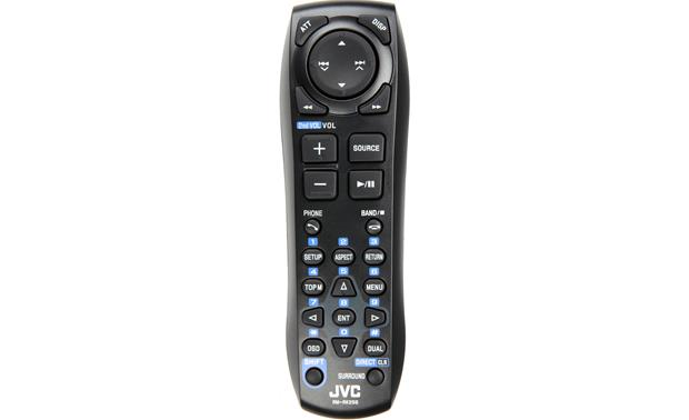JVC Arsenal KW-V100 Backseat passengers can control the fun with the included remote control