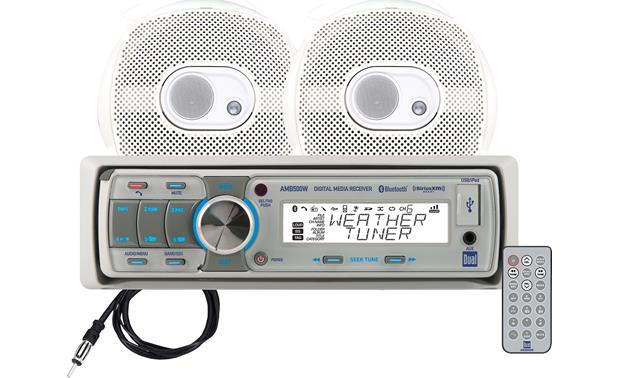 Dual Marine Receiver/Speakers Package with remote
