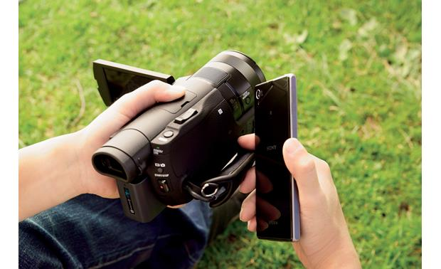Sony Handycam® FDR-AX100 Pair with compatible Android devices using NFC technology