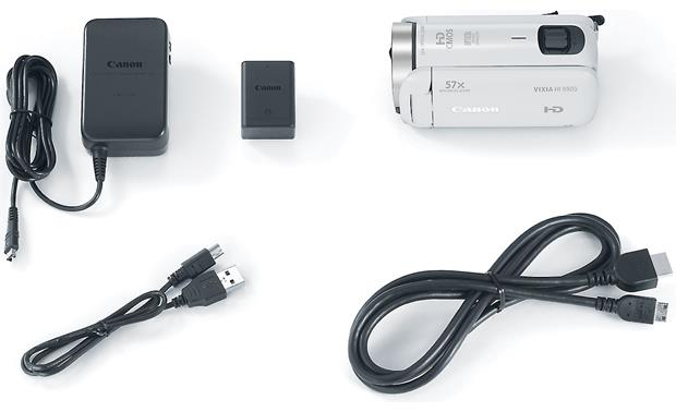 Canon VIXIA HF R600 Shown with included accessories