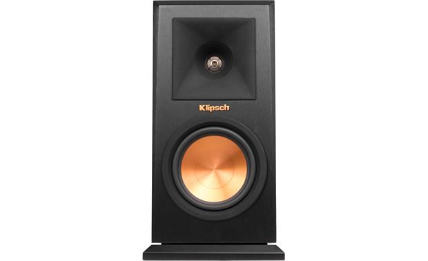 Klipsch Reference Premiere RP-150M Direct front view with grille off (Ebony)