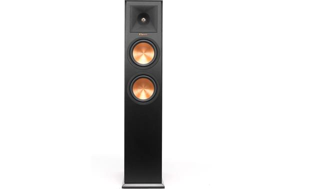 Klipsch Reference Premiere RP-260F Direct front view with grille off (Ebony)