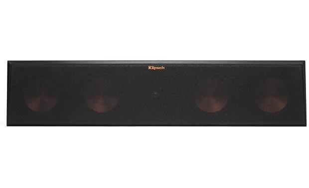 Klipsch Reference Premiere RP-450C Direct front view with grille attached (Ebony)