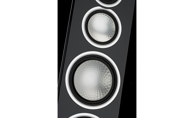 Monitor Audio Gold 300 Closeup detail of drivers (Piano Black)