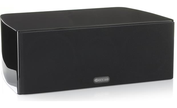 Monitor Audio Gold C150 Shown with included magnetically attached 'floating' cloth grille (Piano Black)