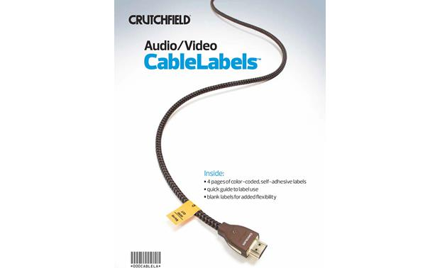 Crutchfield Audio/Video CableLabels™ Front
