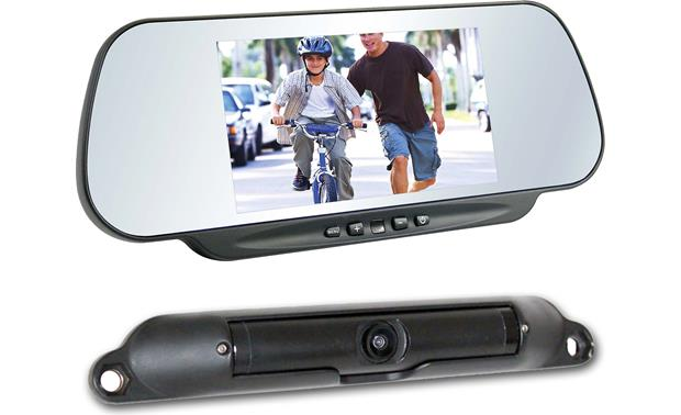 Boyo Vtc464rb Clip On Replacement Mirror With Wireless Backup Camera