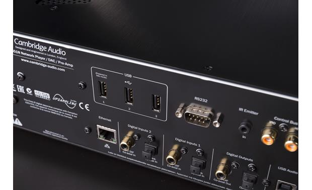 Cambridge Audio Azur 851N Close-up view of digital connections