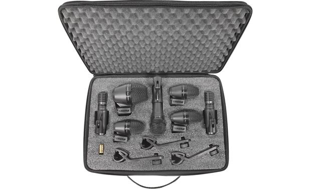 Shure PGADRUMKIT7 The seven mics of the PGADRUMKIT7 catch all the details from your kit