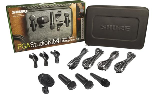 Shure PGASTUDIOKIT4 Microphone Bundle Mics with included accessories