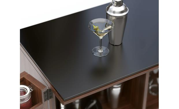 BDI Corridor Bar 5620 Walnut - counter top detail (glass and shaker not included)