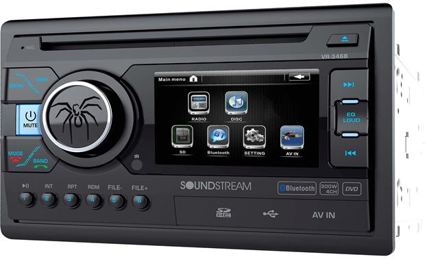 Soundstream VR-346B Conventional buttons and a sharp 3.4