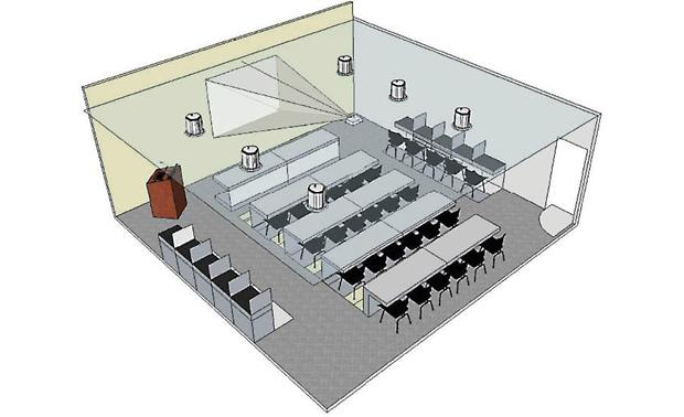 Training Room or Classroom Sound System System layout