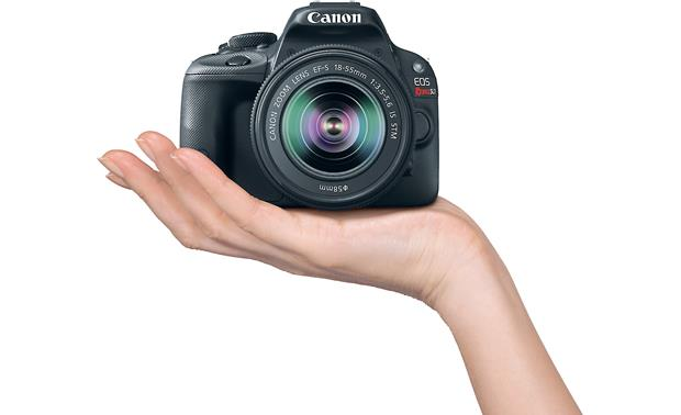 Canon SL1 Two Zoom Lens Bundle Fits in the palm of your hand