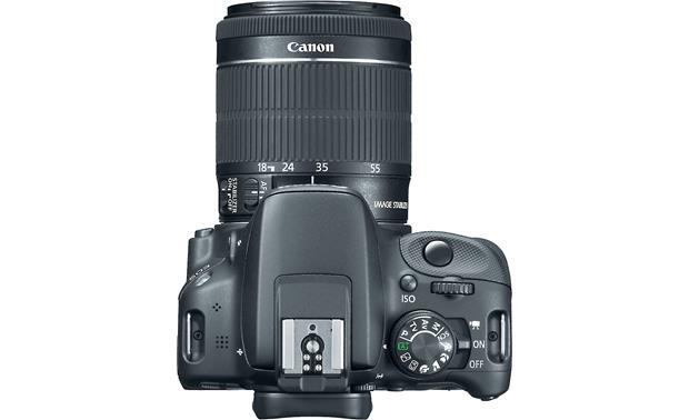 Canon SL1 Two Zoom Lens Bundle Top, with 18-55mm lens attached