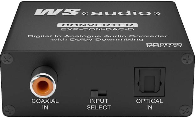 WyreStorm Express™ EXP-CON-DAC-D Digital-to-Analog Converter Digital audio inputs