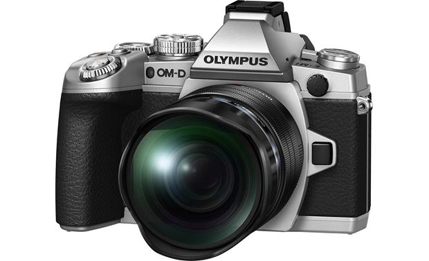 Olympus M. Zuiko ED 8mm f/1.8 Fisheye PRO Front, attached to E-M1 camera (not included)